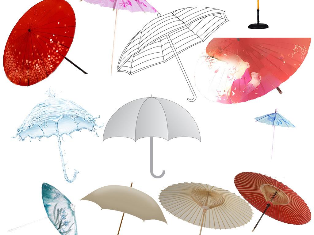 创意雨伞儿童雨伞图片雨伞简笔画江南油纸伞
