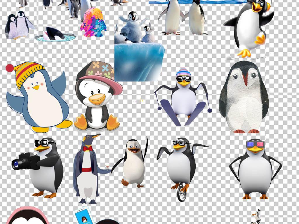 海底世界极低动物企鹅png素材