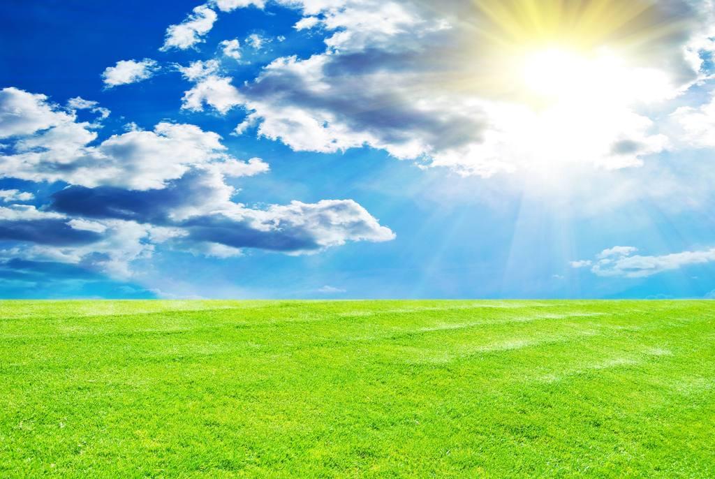 草原图片绿色系列                                  草地蓝天白云