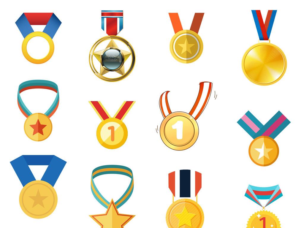 设计元素 自然素材 其他 > 手绘卡通金牌奖牌徽章奖章免扣png素材