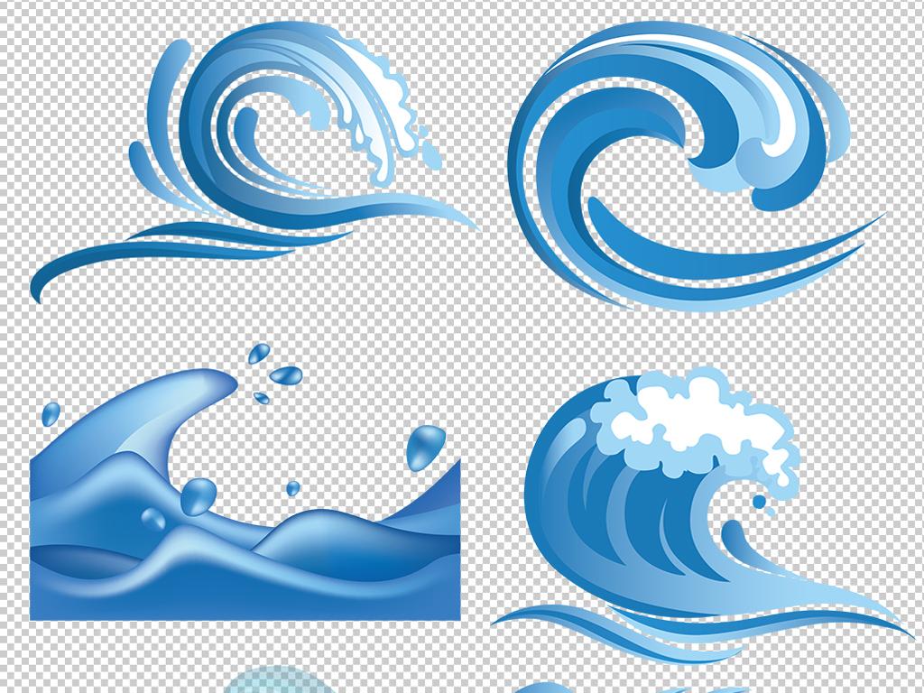 卡通立体海洋海浪浪花海水波浪纹理背景素材