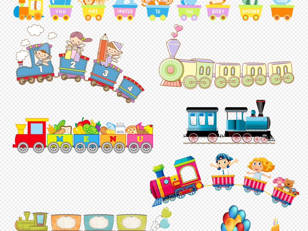 儿童火车卡通玩具png免扣素材手绘图片