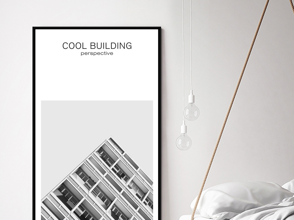 现代简约黑白玄关装饰画竖版走廊壁画北欧画图片
