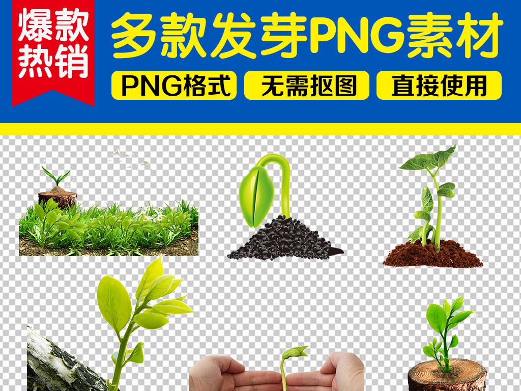 大树爱护守护保护爱心植树节小树苗成长种子绿色素材春天绿色素材种子