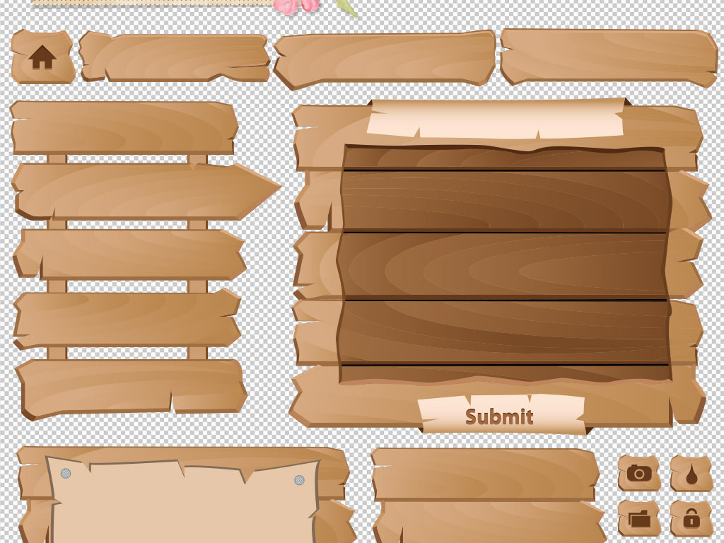 指示吊牌素材木板木板背景png背景素材背景木板素材告示多款多款背景