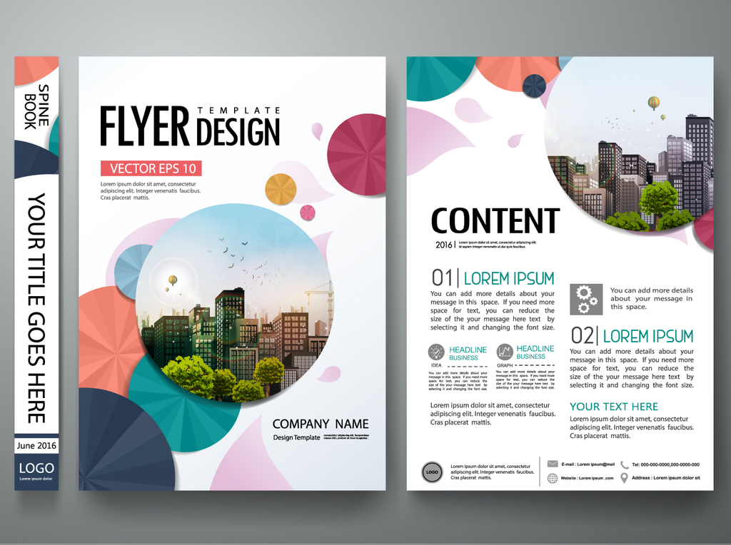企业dm单页a4创意多彩商业宣传单设计图片