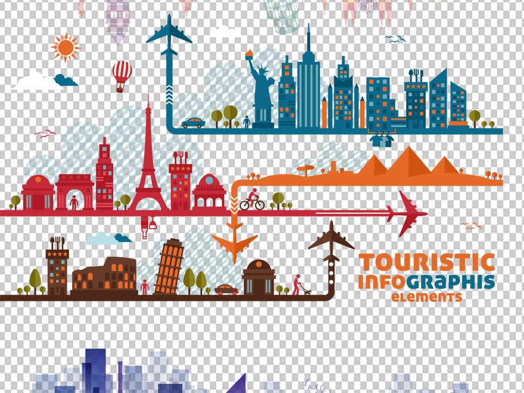 图片透明背景png格式背景png图手绘矢量图免抠图素材线条城市城市线条