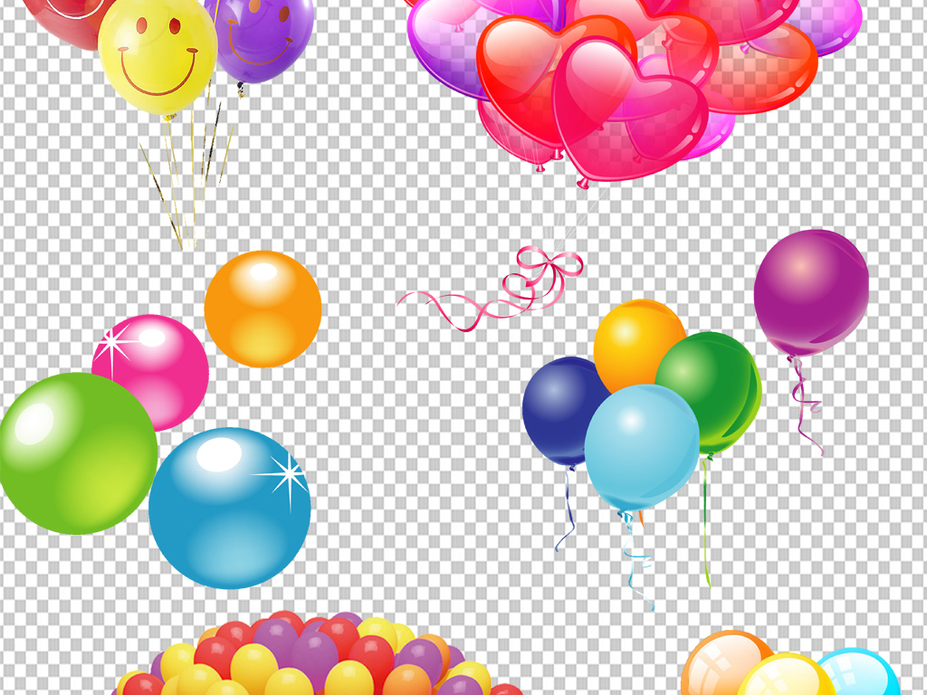 手绘气球png透明元素