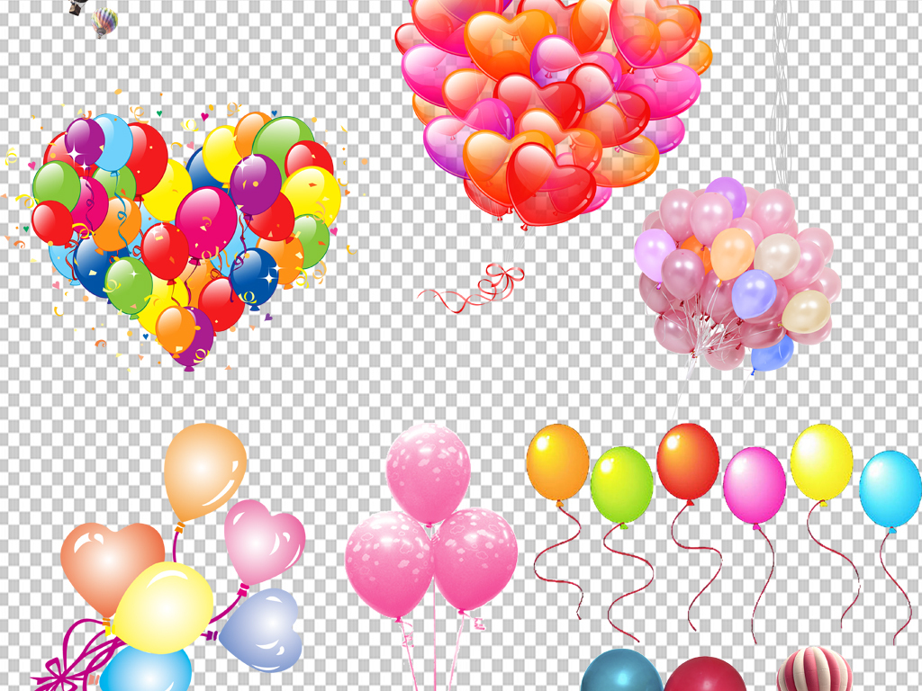 手绘气球png免抠素材透明元素