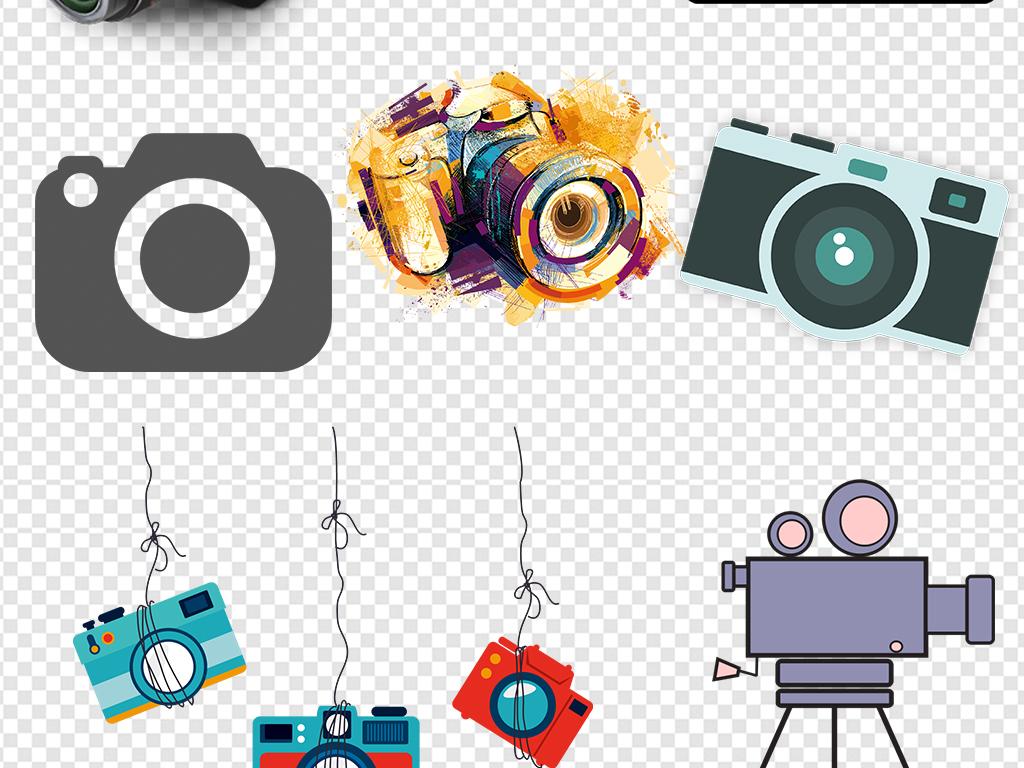 卡通单反相机数码相机图标图案素材
