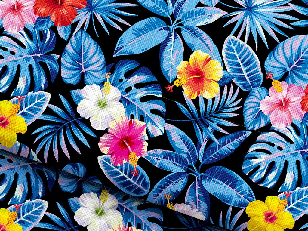 手绘油画效果植物花卉