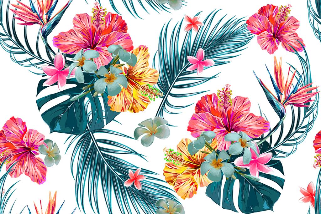 热带风格写实花卉叶子植物类花卉手绘花卉植物花卉花卉植物植物手绘