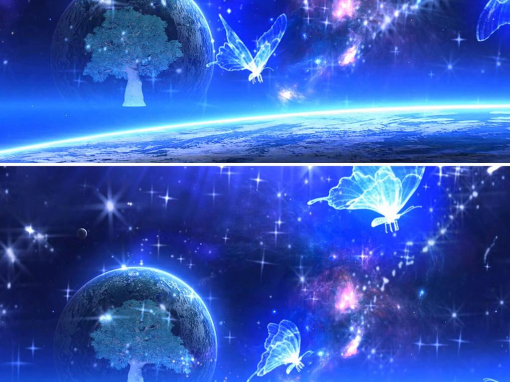 唯美大气粒子星空流星雨婚礼背景视频浪漫梦幻舞台图片