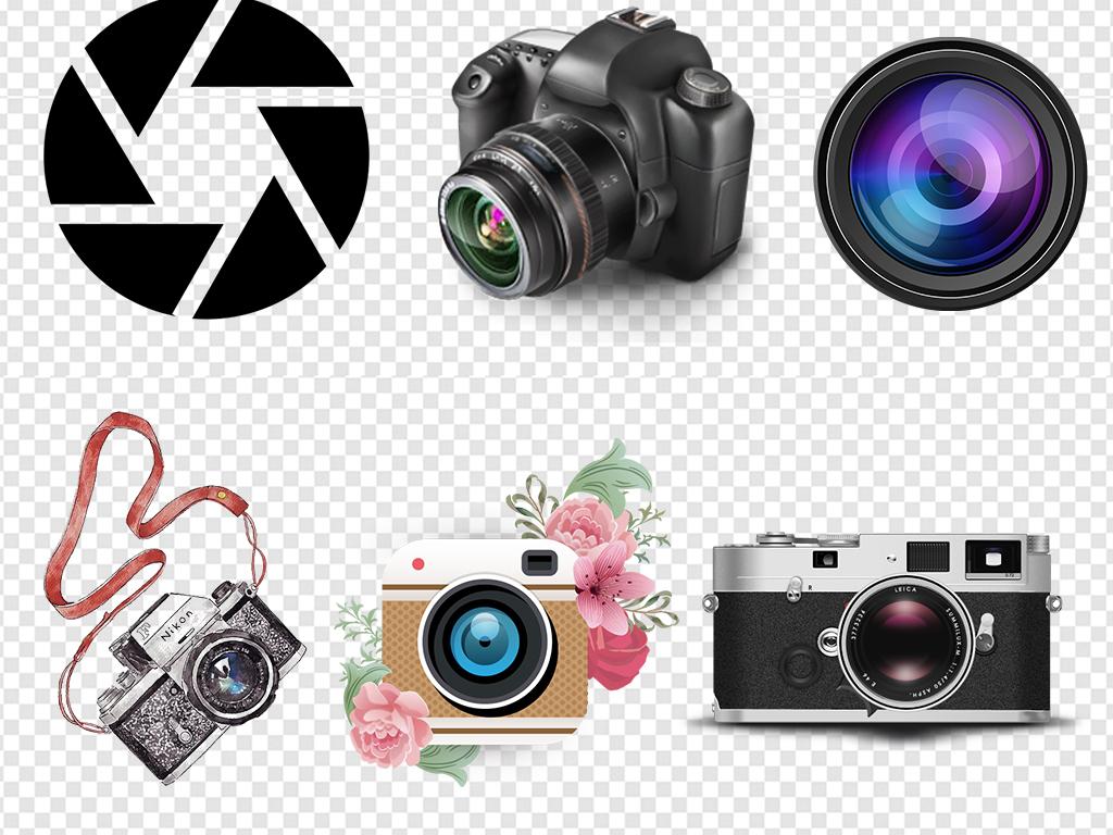 手绘相机相机图标复古相机单反照