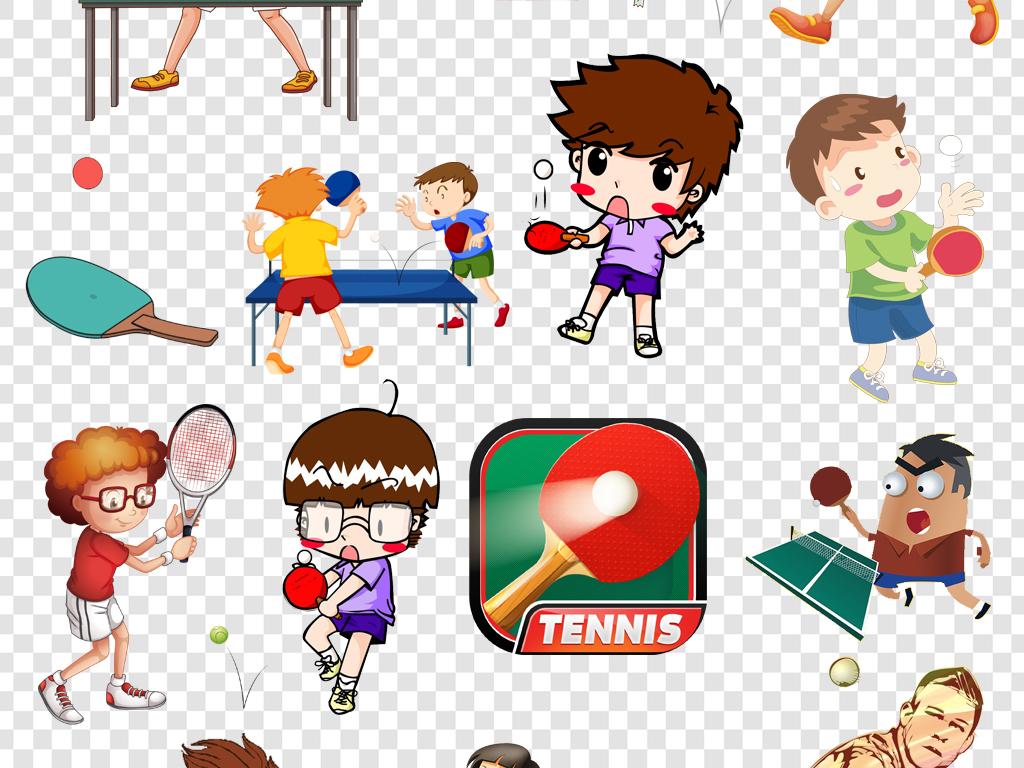 体育主题男孩运动乒乓球运动运动卡通乒乓球图片