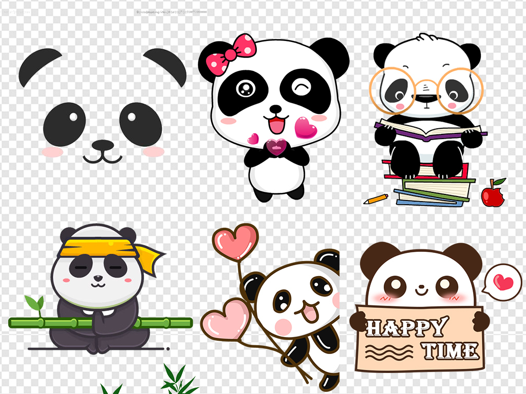熊猫背景手绘熊猫熊猫表情包熊猫可爱卡通卡通熊猫熊猫竹子竹子熊猫