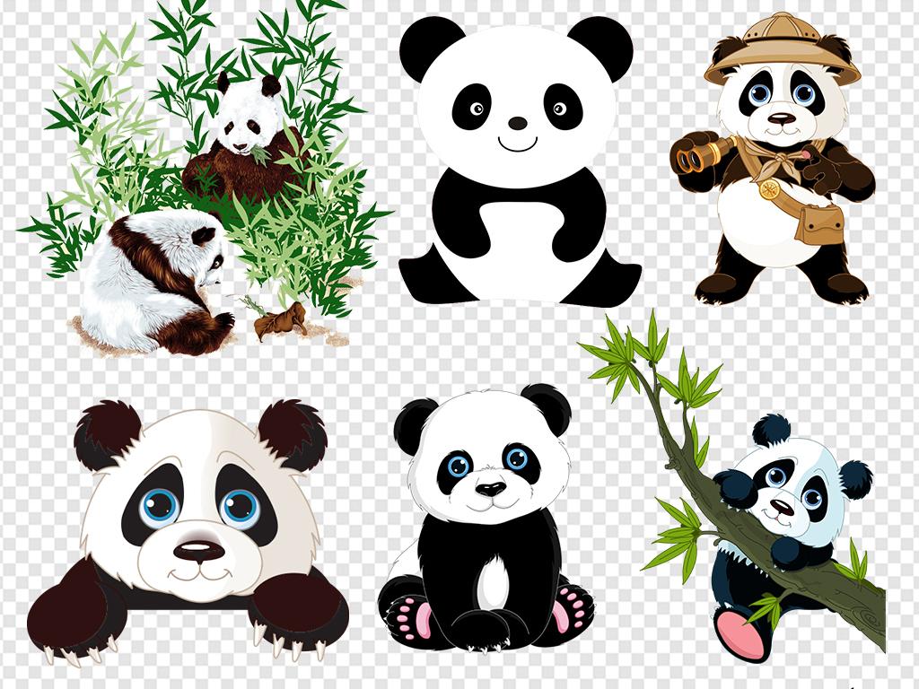 手绘熊猫熊猫表情包熊猫可爱卡通卡通熊猫熊猫竹子竹子熊猫国宝卡通