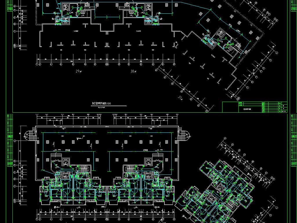 办公楼电气CAD图纸