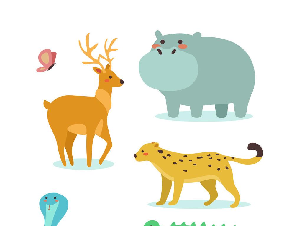 手绘豹纹图形纹案背景矢量图图片下载ai素材-动物-我