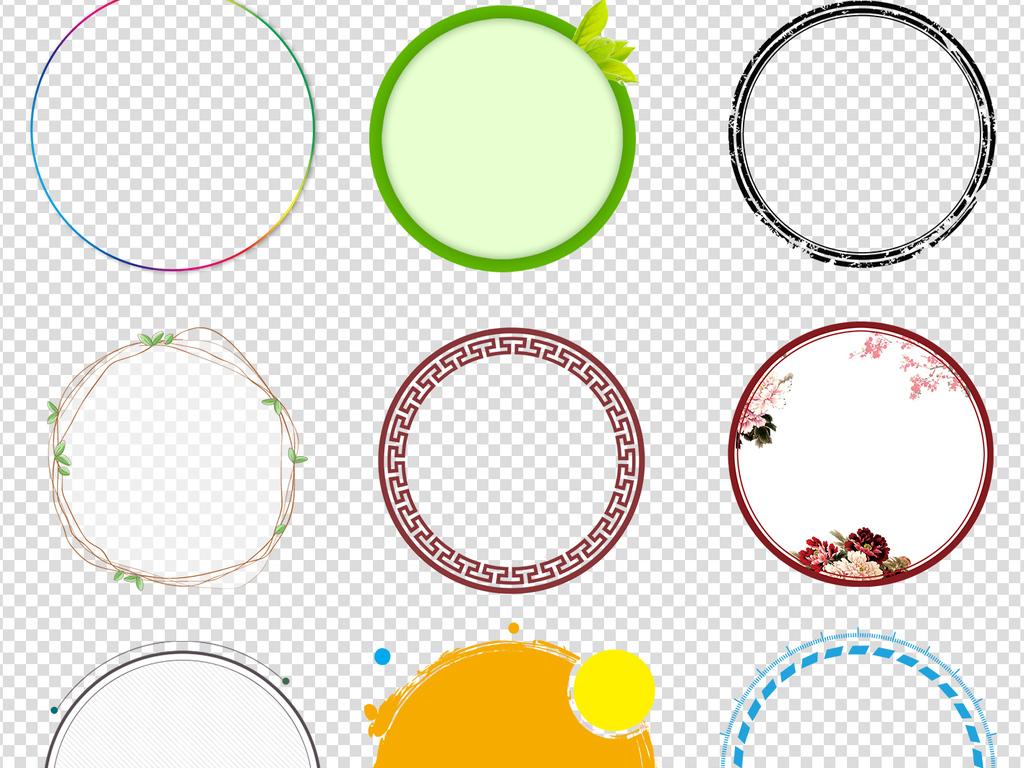 圆形手绘图片                                  花边圆形