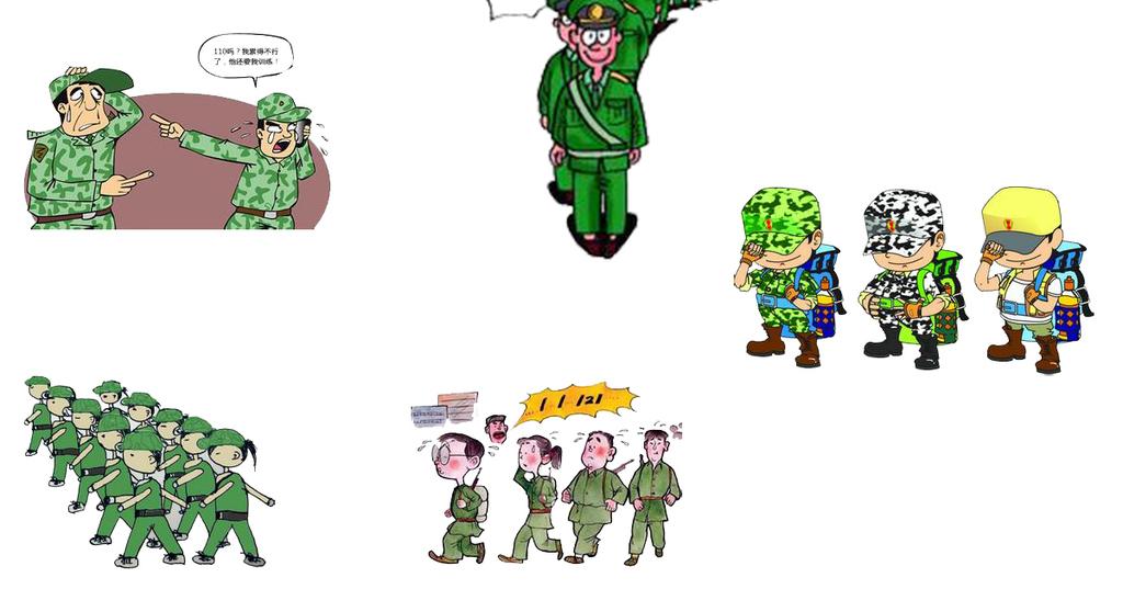 军训汇演手绘图纸