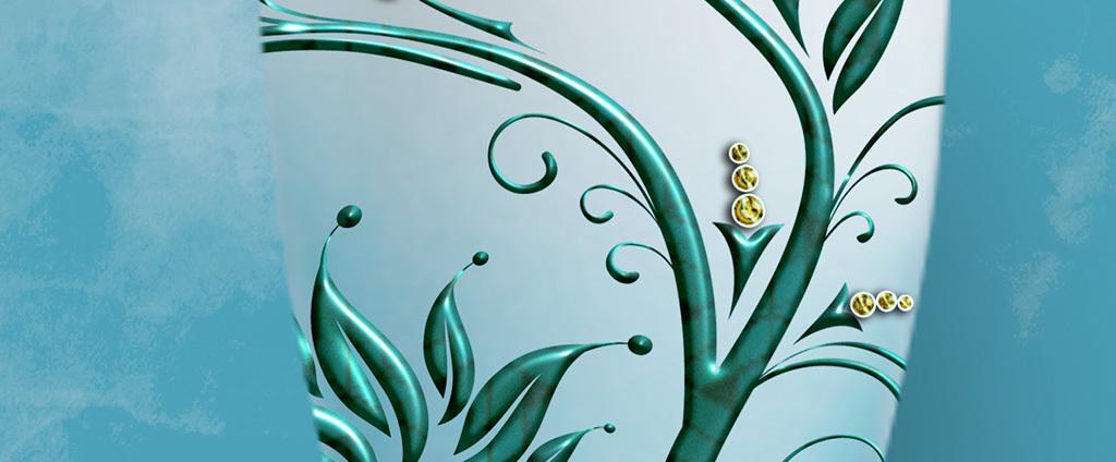 复古手绘发财树花瓶抽象麋鹿北欧装饰画