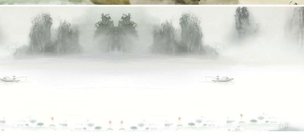 淘宝天猫水墨复古文艺中国风全屏海报背景