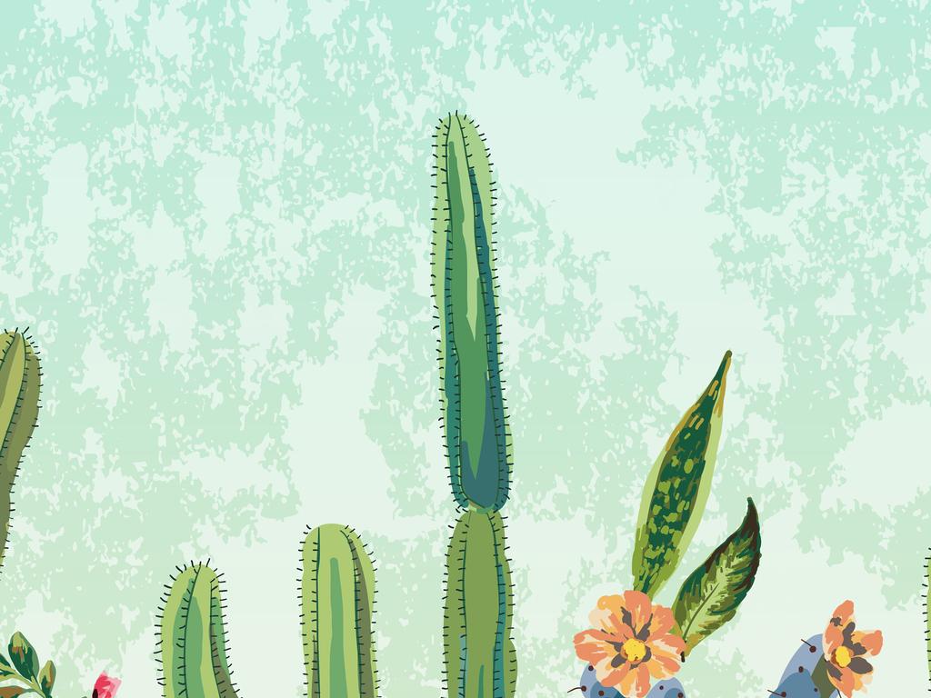 手绘自然元素植物花卉