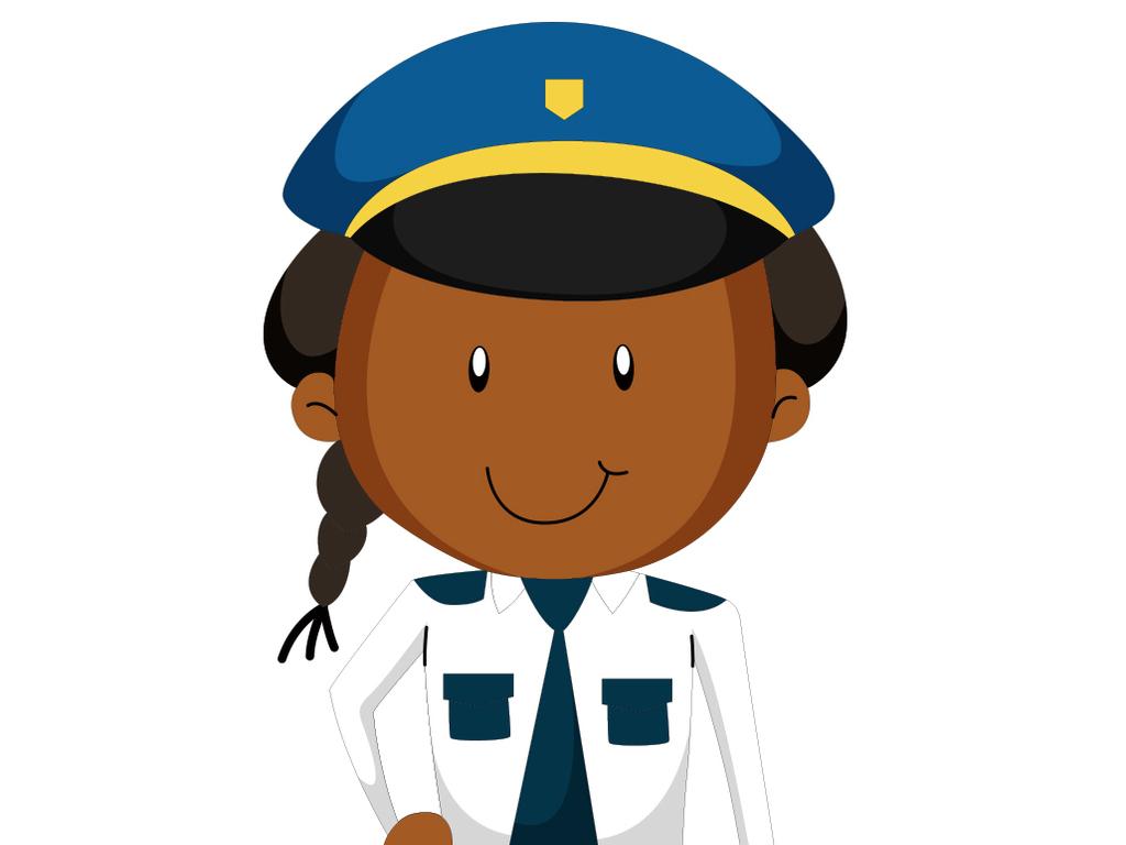 可爱女警察矢量设计元素图片下载ai素材 美女