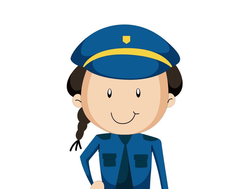 女警察矢量图-可爱女警设计元素图片下载ai素材 美女