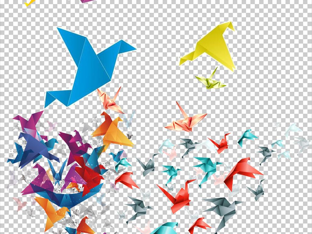 千纸鹤放飞梦想图片素材