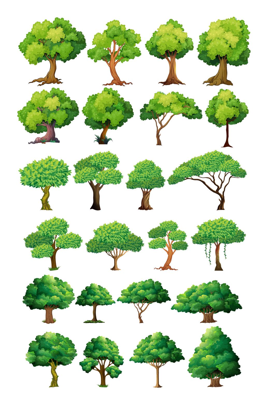 多款绿树植物矢量素材图片