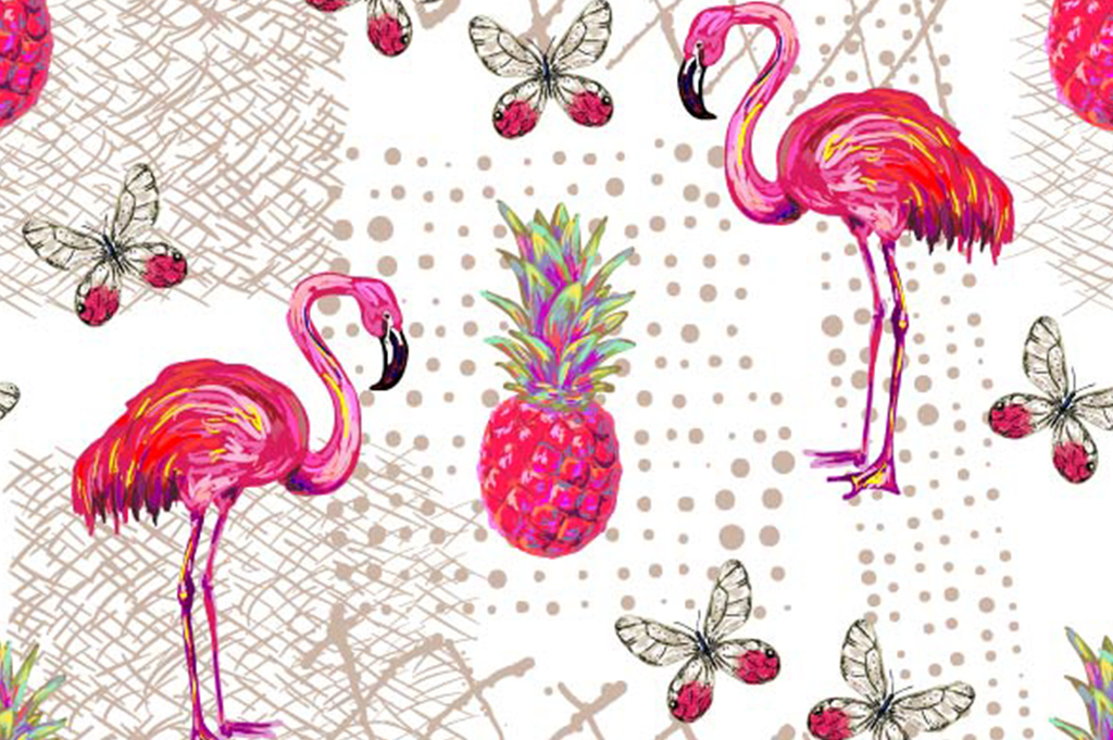 火烈鸟面料图案设计(图片编号:16914161)_动物图案_我