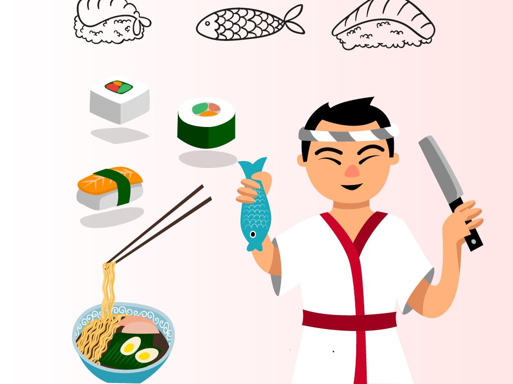 ai)                                  厨师手绘