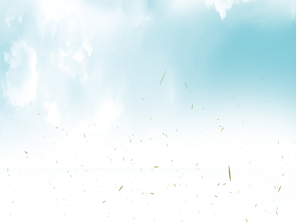 爱心树蓝天白云绿草环保素材背景