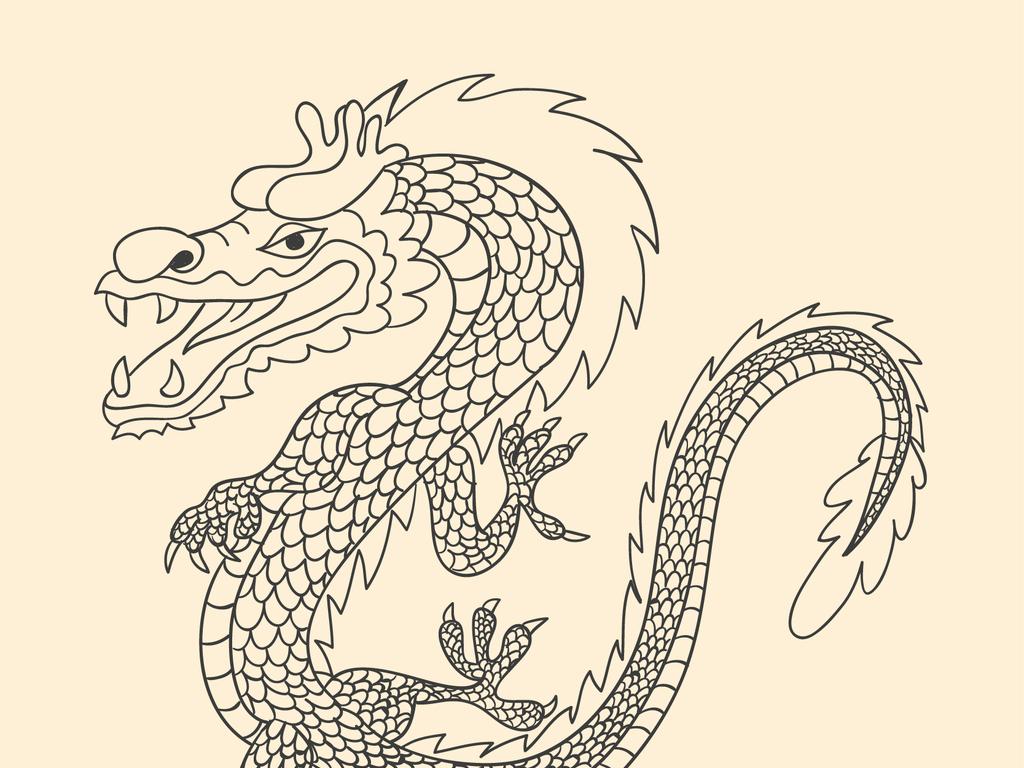 龙怎么画简笔画可爱