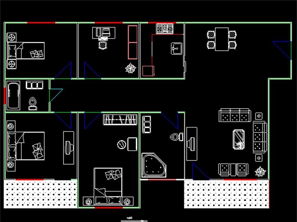 建筑设计 cad图纸  建筑图纸 > 某高层住宅楼cad建筑施工图