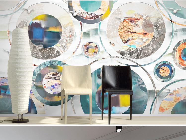 新中式抽象水墨画几何现代简约电视背景墙