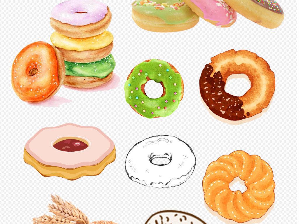 面包图片甜甜圈简笔画甜甜圈蛋糕