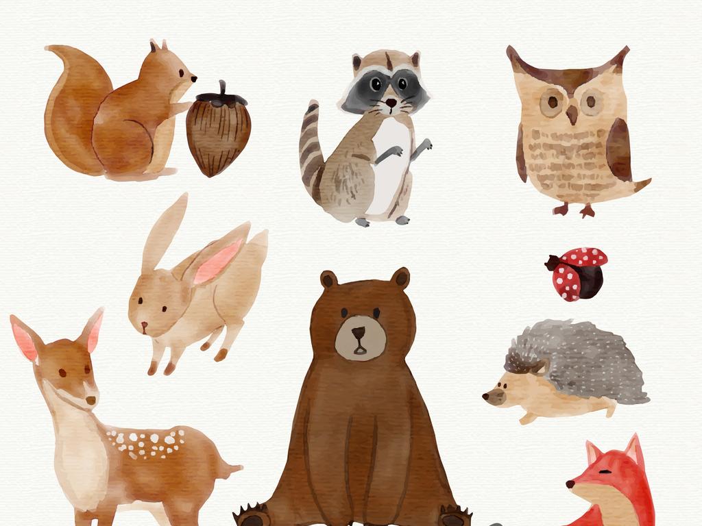 设计元素 自然素材 动物 > 卡通矢量松鼠  版权图片 设计师
