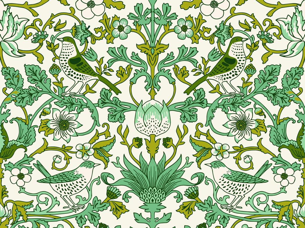 欧式花卉花纹小鸟图片