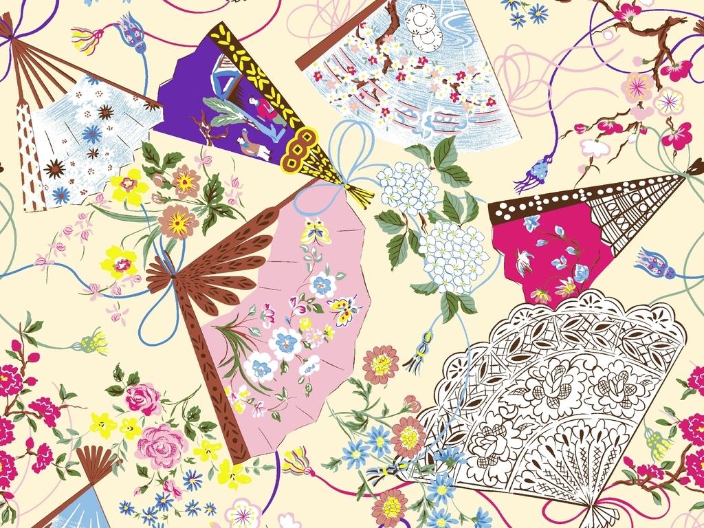 花朵手绘裙子铅笔画
