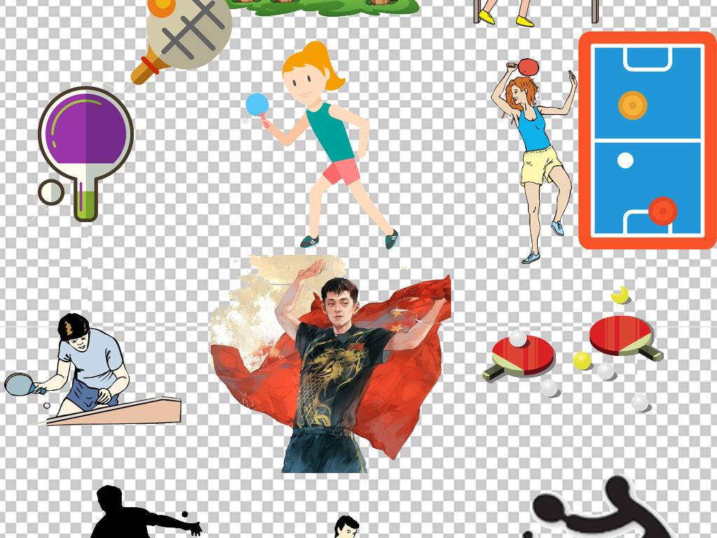大学少儿乒乓球队招新海报png元素图片下载psd素材