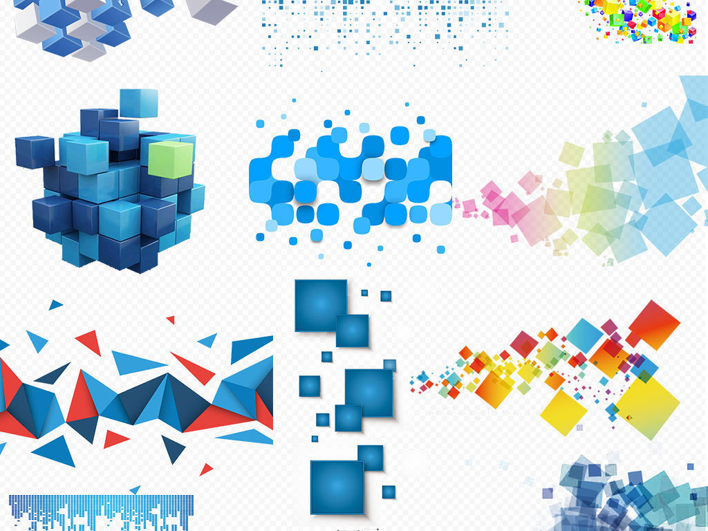 高清科技边框科技背景素材免抠png元素图片