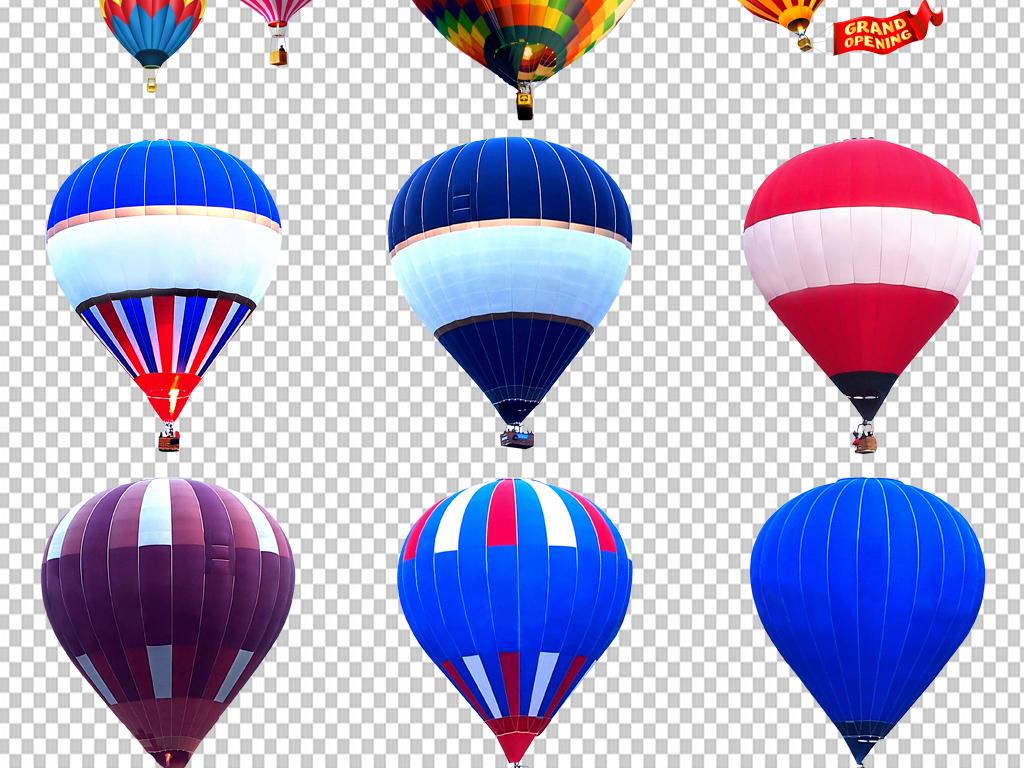 图片透明背景png格式背景png图手绘矢量图免抠图素材高清晰热气球元