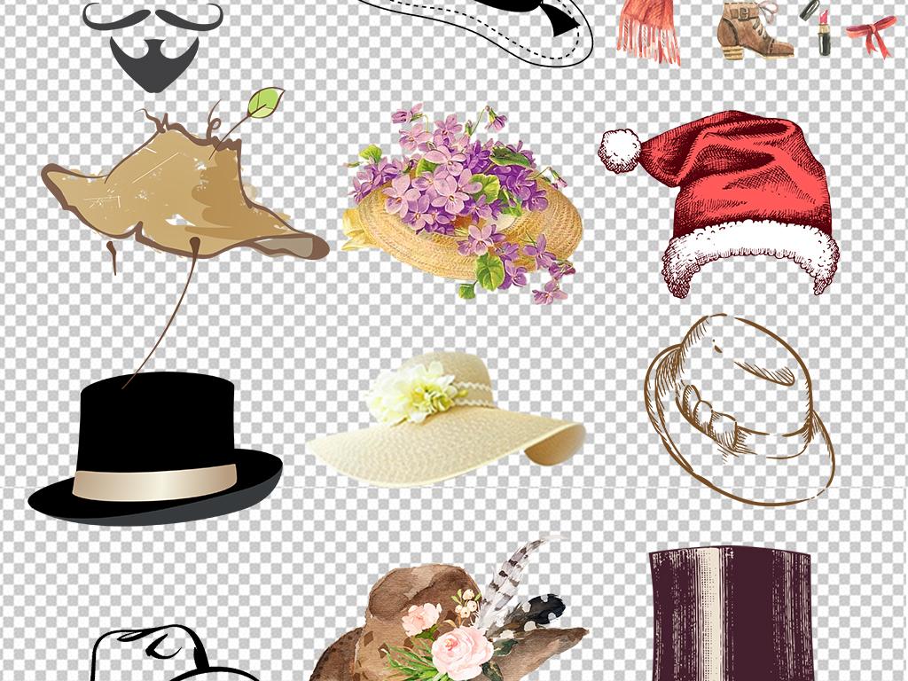 卡通手绘帽子图片海报素材设计_高清psd模板下载(43.