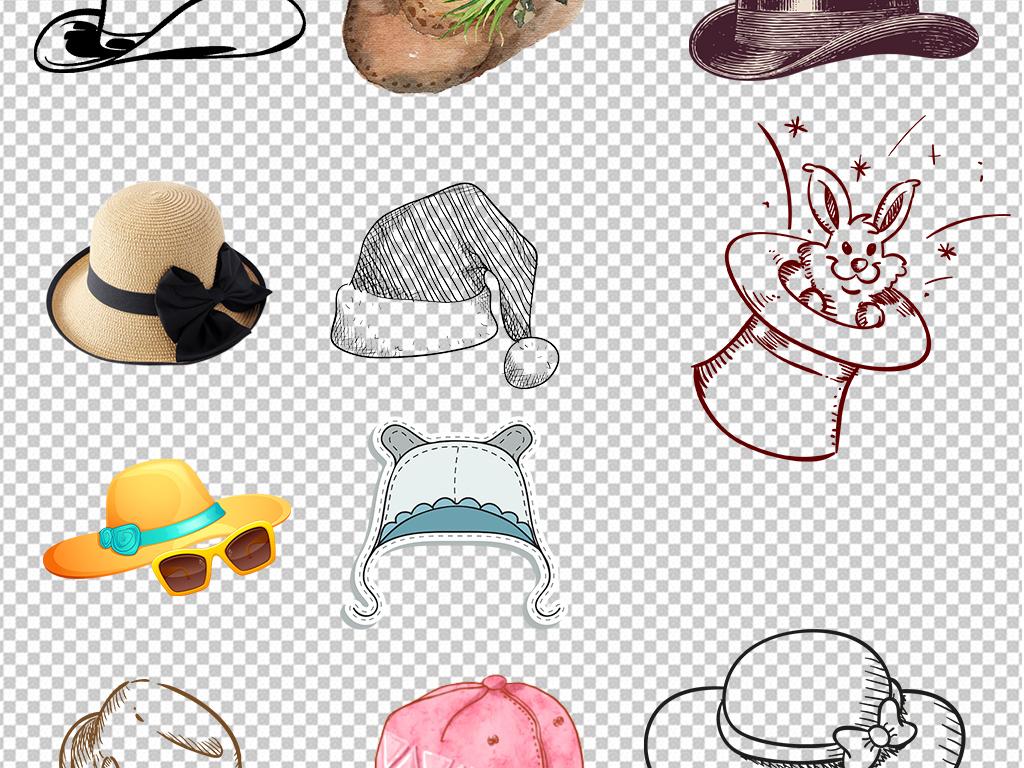 卡通手绘帽子图片海报素材