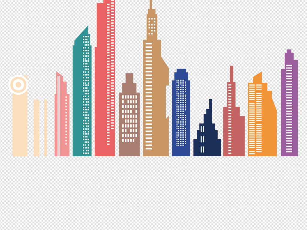 上海城市彩色手绘