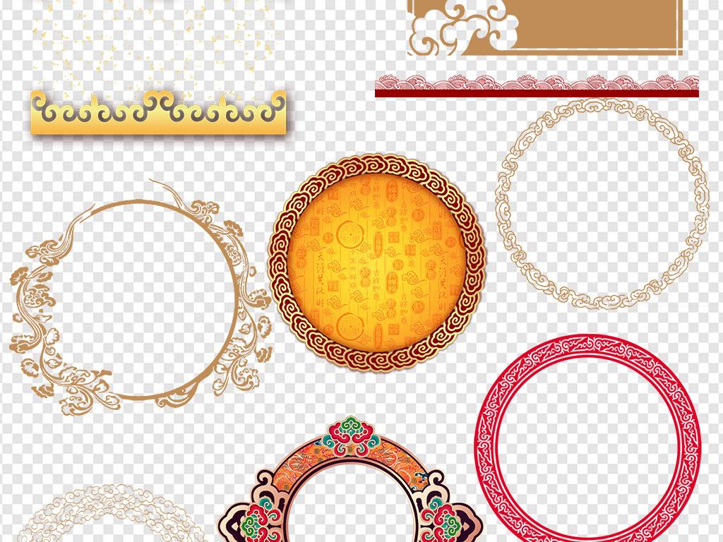 100款古风古典中式边框花纹边框花边素材
