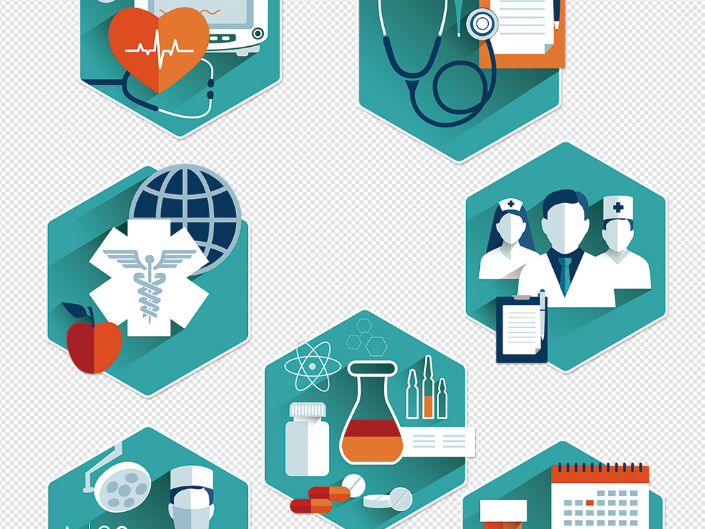 医院医疗救护图标矢量图ppt医学图标医院图标(33)